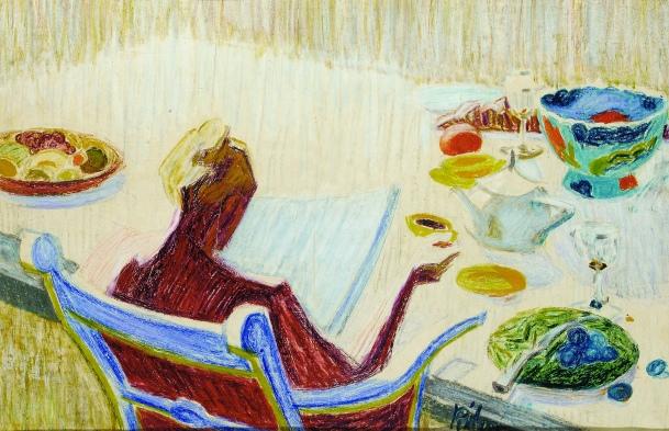 bridget-riley-woman-at-tea-table